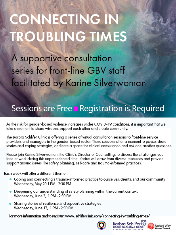poster for connecting in troubling times